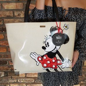 Minnie Mouse Red Black Francis Tote Kate Spade
